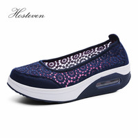 Hosteven Women Shoes Casual Platform Sneaker Vulcanize Shoes Ladies Air Mesh Shoes Grils Solid Summer Footwear