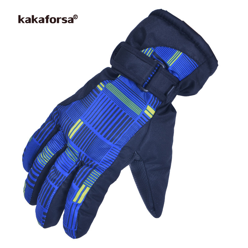 Kakaforsa 2017 New Ski Gloves Snowboard Windproof Waterproof Skiing Gloves Outdoor Sport Warm Motorcycle Winter Snow Glove Men