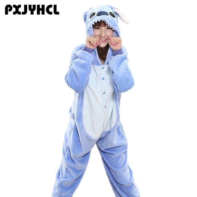 b268eba8d096 ... пижамы комбинезон для женщин мужчин животных косплея мальчиков девочек  д. Adult Kid Anime Blue Stitch Kigurumi Pajamas Jumpsuit For Women Men  Animal ...