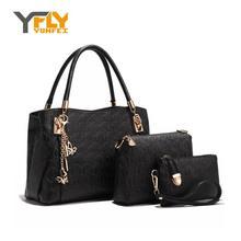 Y-FLY 3pcs/set Composite Bag Women Messenger Bags Top-Handle Handbag with Shoulder Bags PU Women Leather Bags Tote Bolsa HC207