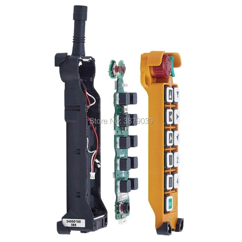 Nice UTING CE FCC F24-10D Radio sans fil industrielle Double vitesse 10 boutons télécommande (1 émetteur + 1 récepteur) pour grue - 3