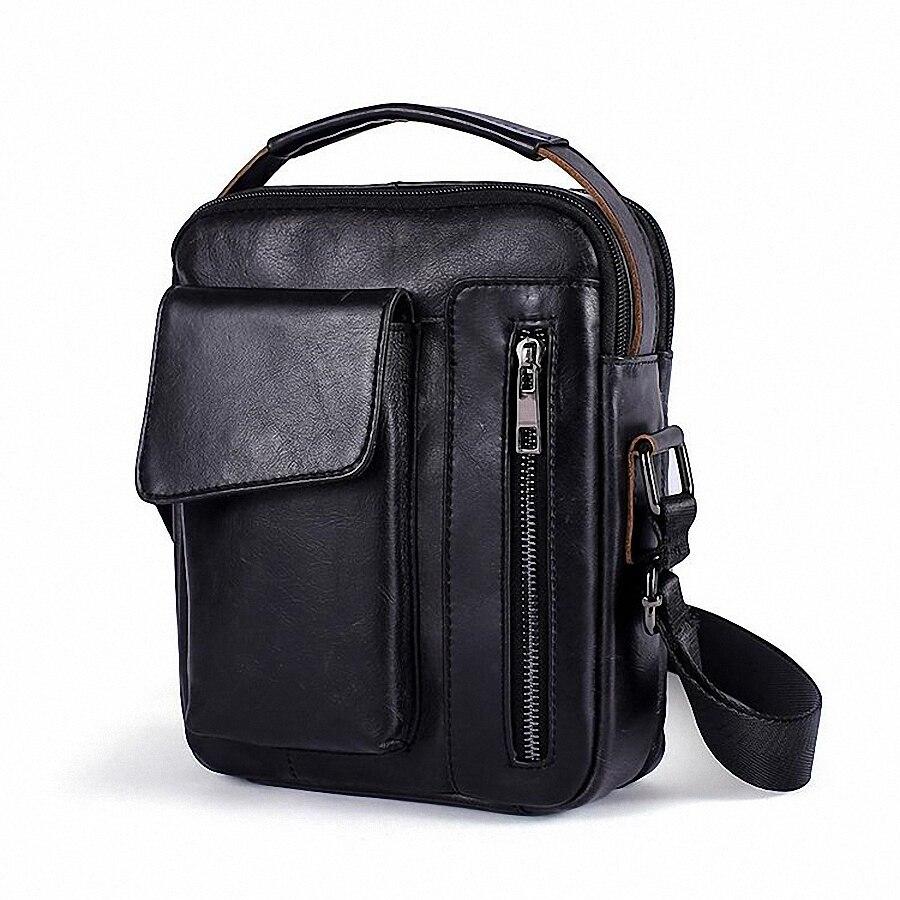 Echtes Leder Männer Tasche Mode Leder Crossbody-tasche Schulter Männer Messenger Taschen Kleine Casual Designer Handtaschen Mann Tasche LI-2219