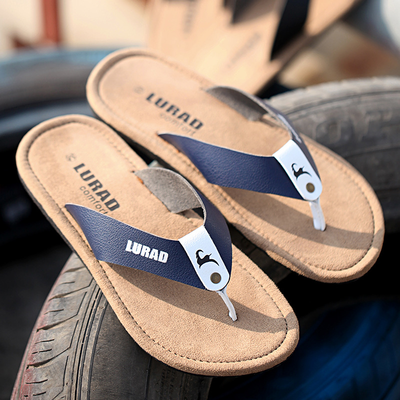 Frauen Schuhe 2018 Casual Britischen Männer Flip-flops Sommer Leder Sandalen Und Hausschuhe Tragen-beständig Anti-slip Prise Strand Schuhe Flut Einfach Zu Schmieren Schuhe