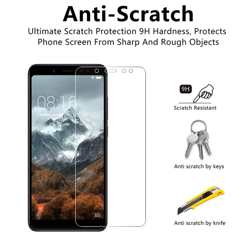 screen protector tempered glass for xiaomi redmi 6A 6 pro 4A 4x 3 3s note 7 5 6 pro(2)