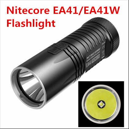 NITECORE EA41 EA41W XM-L 1020 Lumens advanced 4 x AA portable searchlight High performance Improved quality flashlight nitecore ec11 cree xm l2 18350 900 lumens 190m beam distance flashlight searchlight torch
