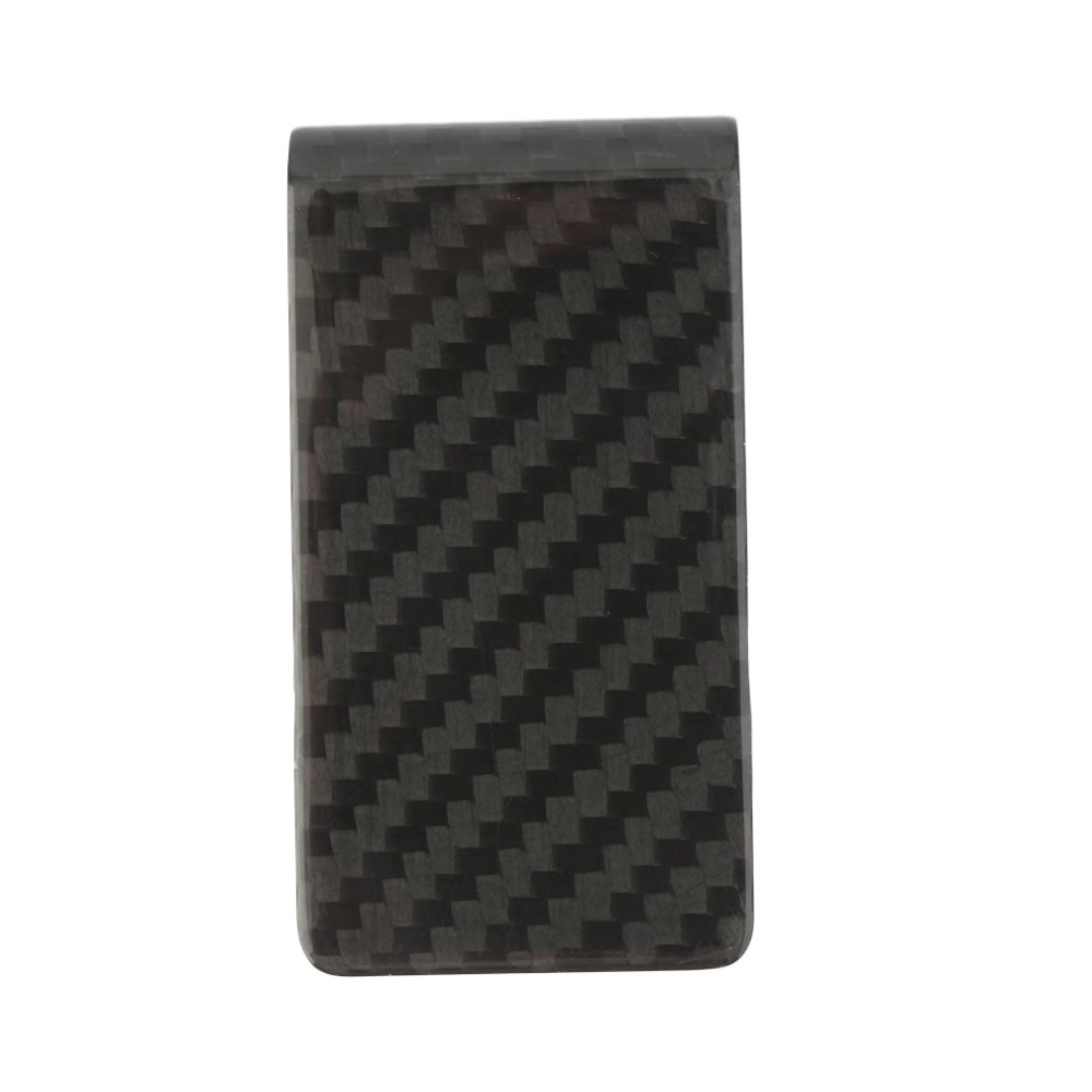 1PC Car Styling Matte Real Carbon Fiber Money Clip Business Card Credit Card Cash Wallet Auto Paper Clips