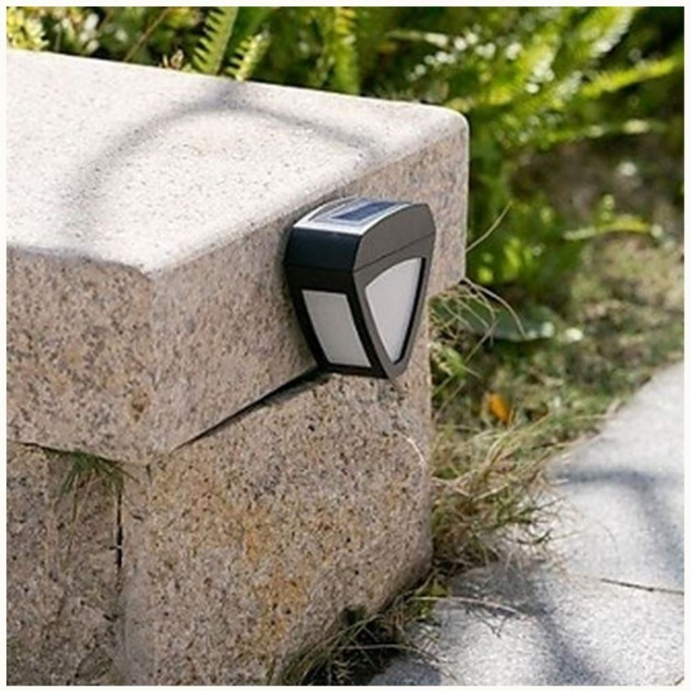 New 2LED Solar Light Outdoor Wall Lamp Corner Home Garden Stairway Lighting Decoration Waterproof Lamps In From Lights On