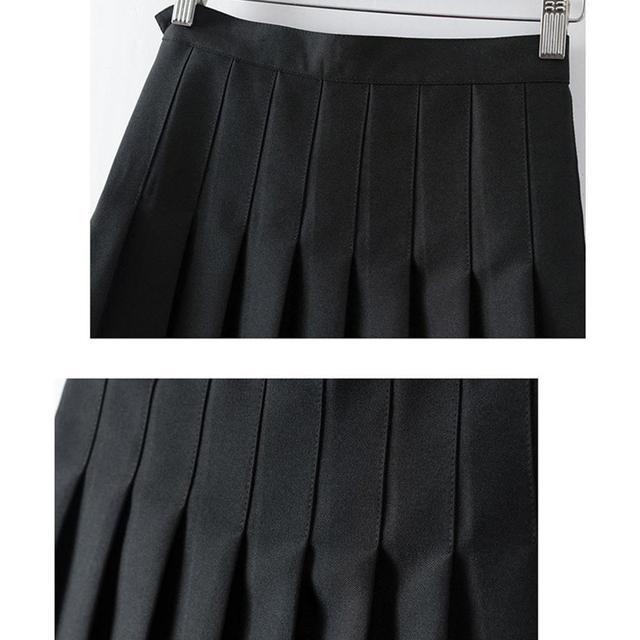 Pink Pleated Satin Skirt summer High Waist   5