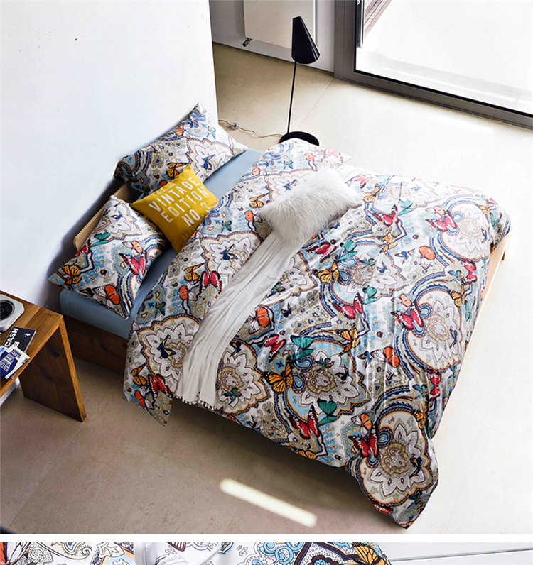 New Bedding Set boho Duvet Cover Sets egyptian cotton Bed Linen Flat Bed Sheet Set Pillowcase Home Textile Drop Ship