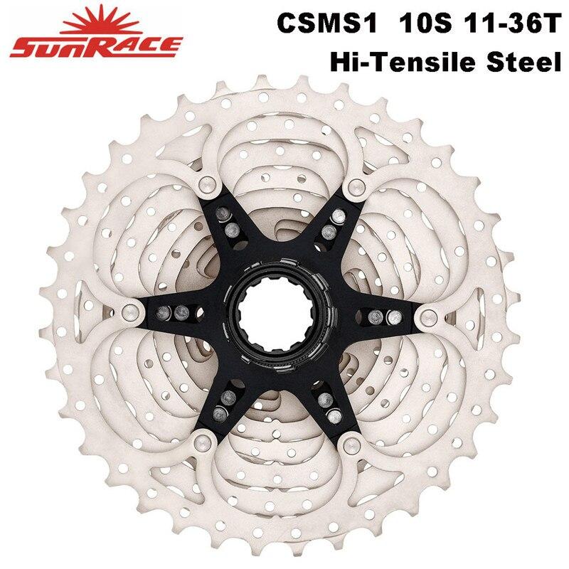 SunRace Series MTB Bicycle Cassette 10 speed 11 36T Hi Tensile Steel Sprocket Bike Freewheel CSMS0