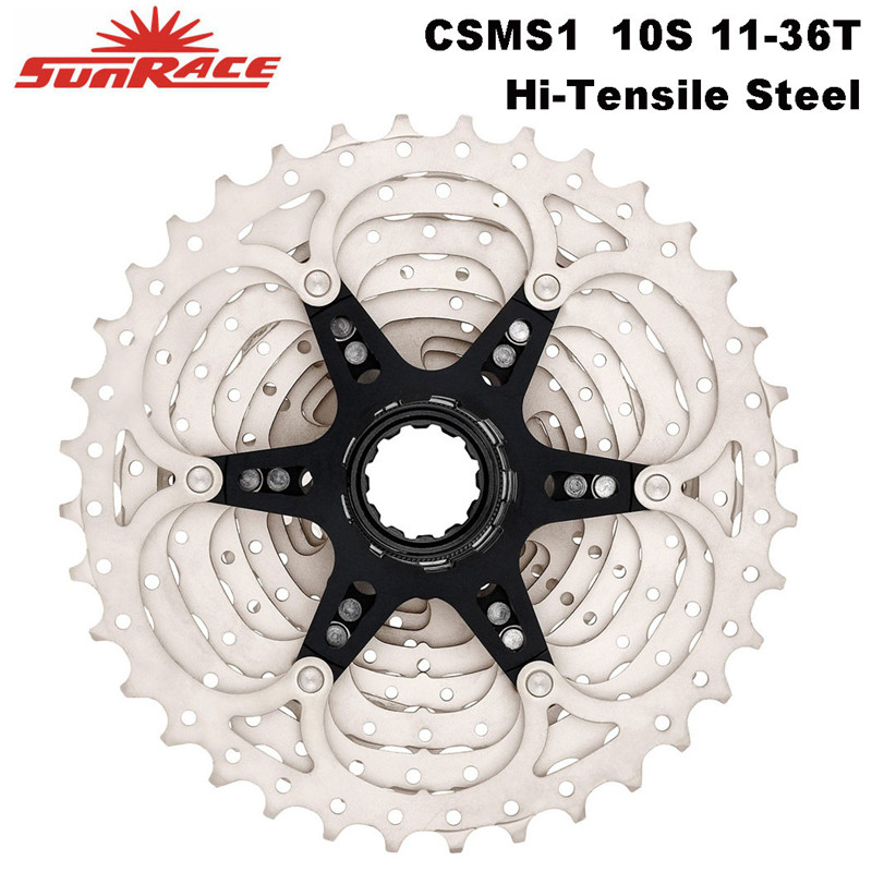 SunRace Series MTB Bicycle <font><b>Cassette</b></font> 10 speed - <font><b>11</b></font>-36T , Hi-Tensile Steel Sprocket 10S Bike Freewheel , CSMS0 , CSMS1 image