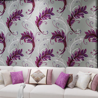 beibehang Chinese Peacock Feather Flowers Living Room Background Wallpapers 3D Stereo High Foam Nonwovens Wallpaper