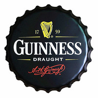 Guinness Draught 40CM Wand Decoratie Vintage Metal Bottle Cap Tin Signs Bar Garage Poster Custom Neon