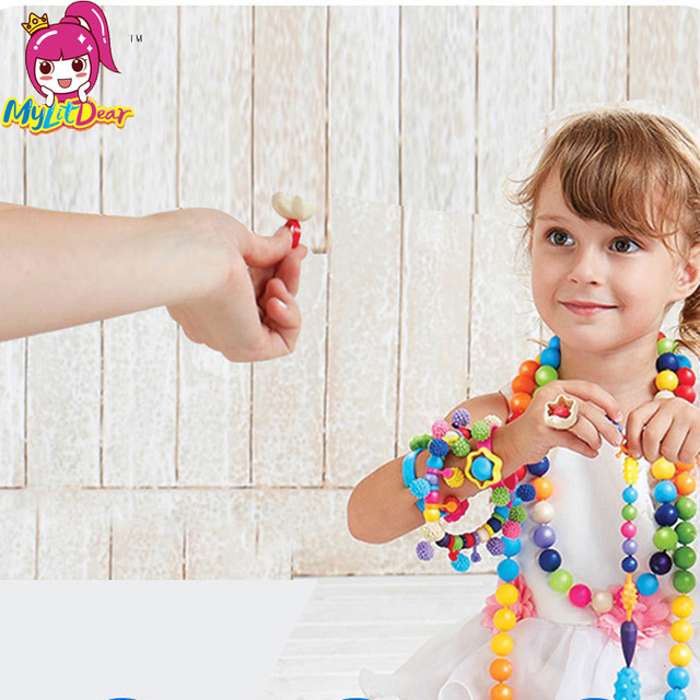 eb5b51407 2017 Mylitdear 200pcs Pop Beads Toys Snap Together Jewelry Fashion Kit DIY  Educational Kid's Toy Craft Gifts For Children Girls