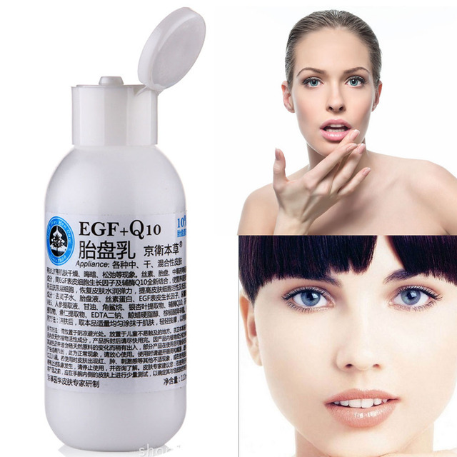 Egf + Q10 Placenta Cream Anti - Aging Hydrating Improve Dry Skin Moisturizing Firming Day Creams & Moisturizers 110g