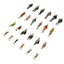 Figuras de pessoas do passageiro layout de cenário, 30 peças, modelo pintado 1:43 o balança