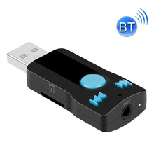 New USB Bluetooth Aux Handsfree 3.5mm Jack Car Kit Audio Receiver Adapter MP3 Player for A2DP Home Speaker