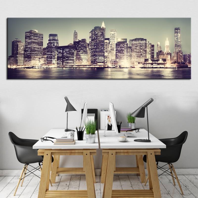 Aliexpress.com : Buy 1 Panel Modern Urban Buildings ...