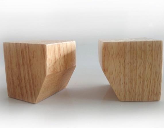 Купить с кэшбэком 4Pieces/Lot Height:5.5cm  Square Solid Wood Foot TV Cabinet  Bed Legs Foot