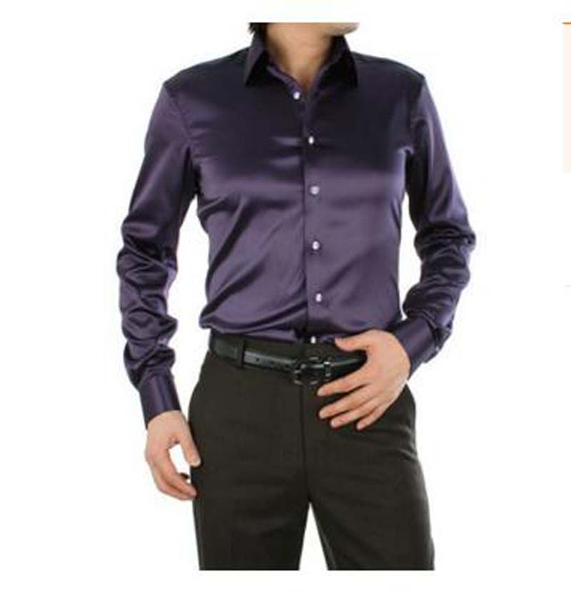 Purple Long Sleeve Dress Shirt
