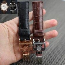 20 мм 22 мм роскошные часы из натуральной кожи браслет черный ремешок IW500107 IW371446 ремешок для часов для PORTUGIESER