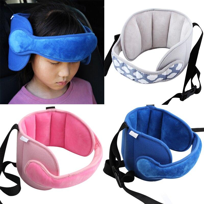Dropship Baby Kinder Einstellbare Auto Sitz Kopf Unterstützung Kopf Befestigt Schlafen Kissen Neck Schutz Sicherheit Laufstall Kopfstütze