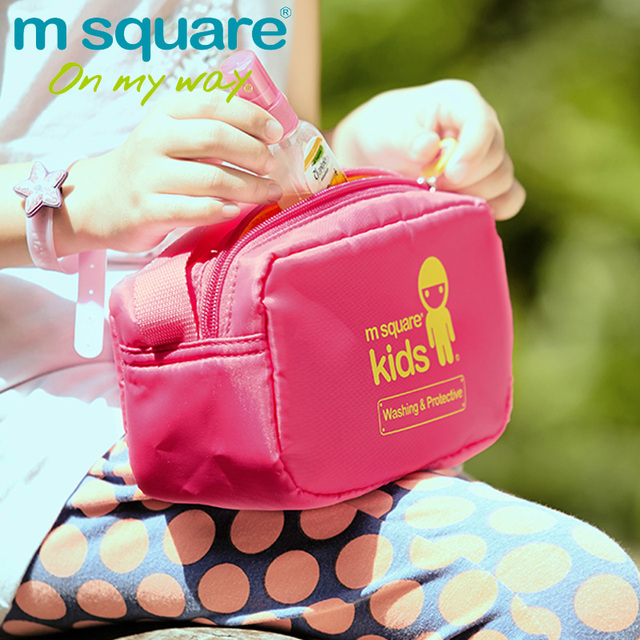 02c74df144c5 US $9.88 5% OFF|M Square Kids Travel Cosmetic Bag Organizer For Cosmetics  Children Wash Makeup Bag Boy Girls Necessaries Cosmetic Bags Storage-in ...