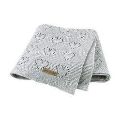Детские одеяла, вязаные, для новорожденных, Bebes, белье для коляски, одеяла, хлопок, для малышей, детей, пеленание, обертывание, Infantil, унисекс, о...
