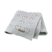 Baby Blankets Cotton Solid Knitted Newborn Bebes Stroller Bedding Quilts Toddler Swaddling Wrap Infantil Unisex Blanket 100*80cm new arrival knitted cotton 100% toddler boy blazer bb161103c solid grey
