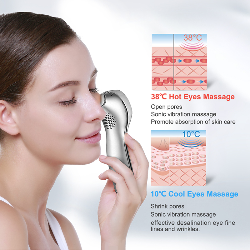 TOUCHBeauty 2in1 Sonic Face Massage Hot&Cool Anti-aging Handheld Face&Eye Massager With Vibration Facial Lifting Machine TB-1589