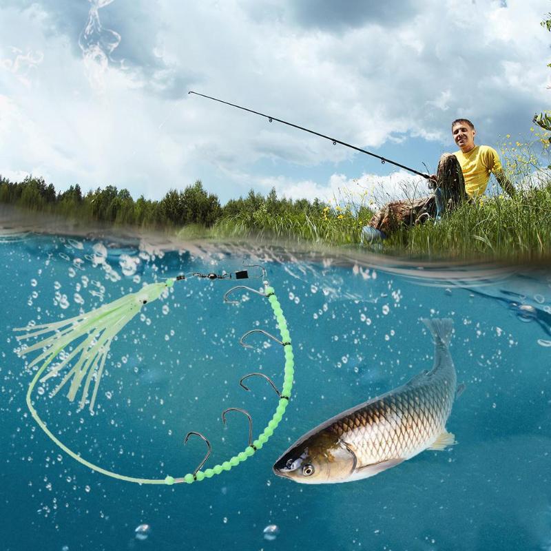 Горячий светящийся ночной Светильник Осьминог кальмары рыболовные приманки с 5 крючками рыболовный нож с проволочным уплотнением рыболовный крючок ночной Светильник Pesca Iscas