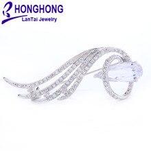 HONGHONG высокое качество Броши для женщин бренд Роскошные булавки броши для Свадебные букеты розовое золото Покрытие модные украшения