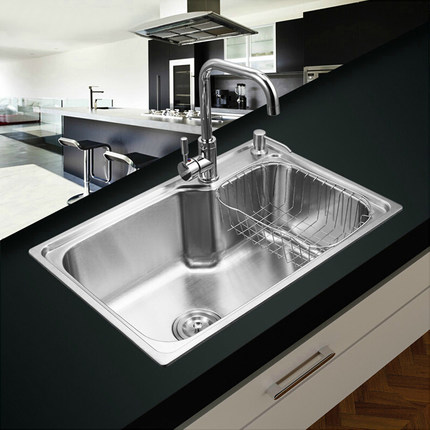 Bayka Brushed Stainless Steel Kitchen Sink Set Drain Assembly Waste