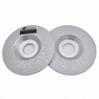 DIATOOL 2pcs Vacuum Brazed Diamond Grinding Cup Wheel Diameter 4 4 5 5 Available For All