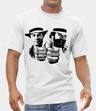 Bud Spencer & Terence Hill LOGO T-SHIRT FRUIT OF THE LOOM PRINT BY EPSON  Free shipping newest Fashion Classic Funny Unique gift