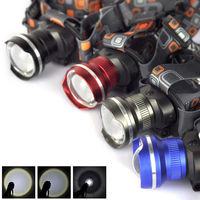 NEW Zoomable 2500Lm XML T6 LED 3xAA Stirnlampe Kopflampe Headlamp Licht Taschenlampe 4 Color