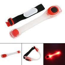 Linterna con correa LED luminosa para brazo, luz de seguridad nocturna, brillante, para correr, ciclismo, trotar, 1 ud.