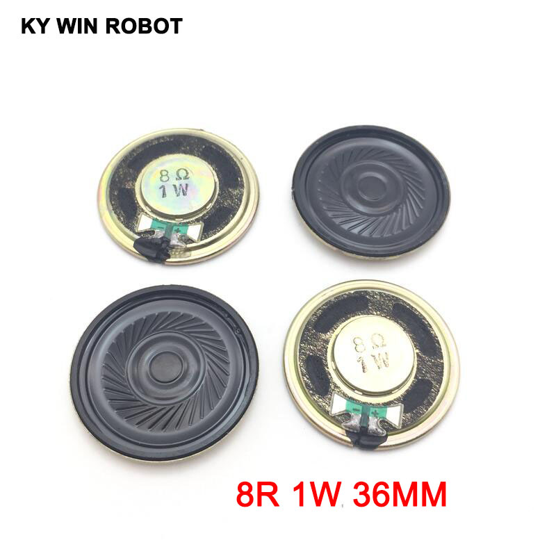 5pcs/lot New Ultra-thin Mini Speaker 8 Ohms 1 Watt 1W 8R Speaker Diameter 36MM 3.6CM Thickness 5MM