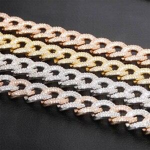 Image 4 - TOPGRILLZ Newest Lock Clasp 14mm Hip Hop Iced Out Bling CZ Men Bracelet 7 8 9 Inch Miami Cuban Link Bracelets Hiphop Jewelry