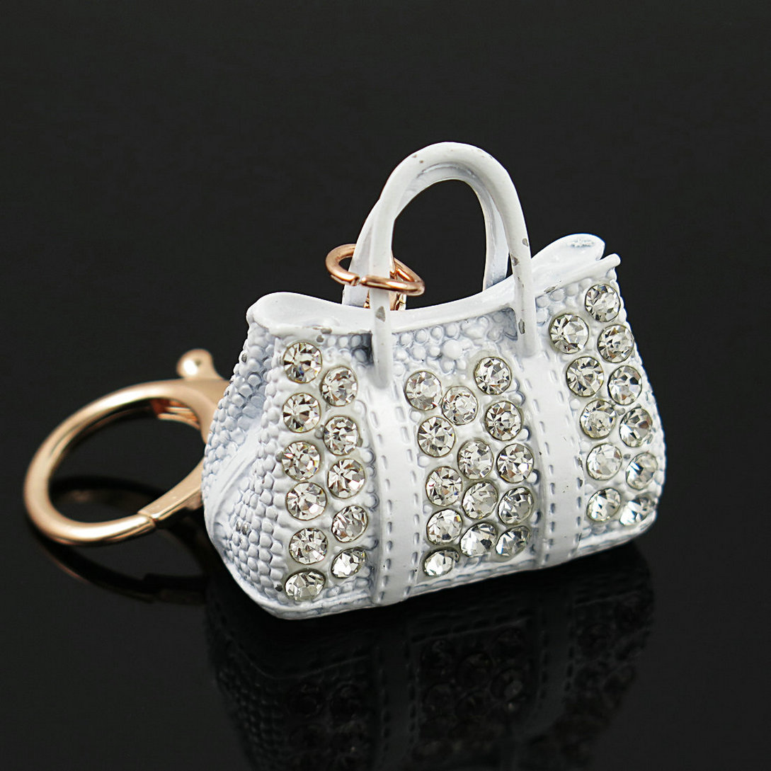 Exquisite Charm Fashion Keychain Creative Handbag Shaped Design Keychain Crystal Purse Bag Keyring Key Chain Female Fashion Gift handbag