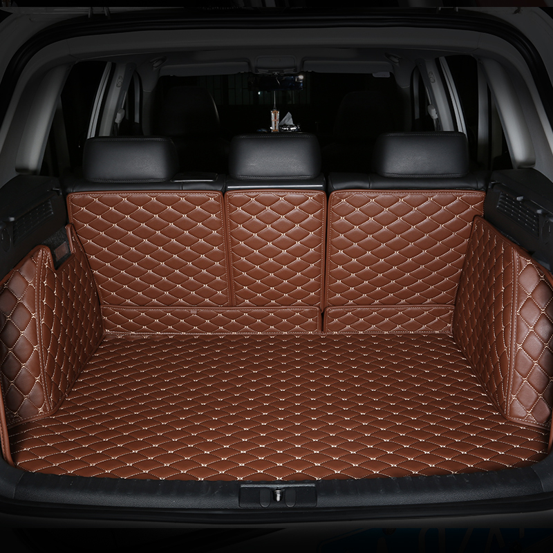 CHOWTOTO Custom Special Trunk Mats For Land Rover Discovery4 Durable Waterproof Leather Luggage Mats For Land Rover Discovery 4
