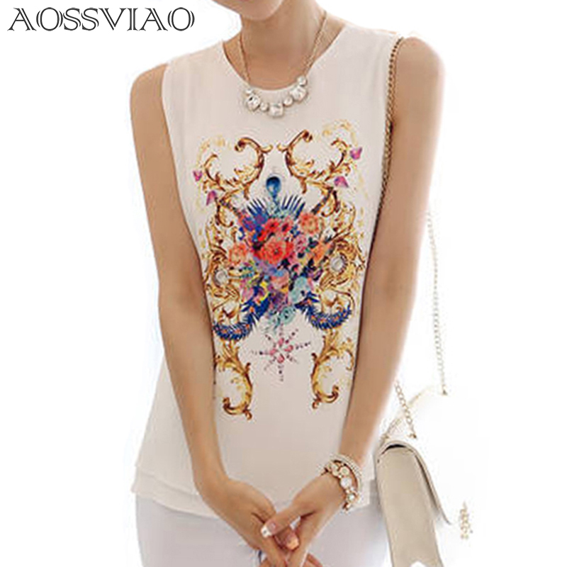 Women Clothes 2018 Summer Style Chiffon Blouse Big Size Sleeveless Shirts Regata Feminina Ladies White O-neck Blouses Tops Ropa