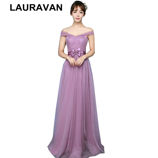 new arrival blush elegant boat neck tulle bridesmaid dresses for teens bridemaides dress ball gown for party long weddings