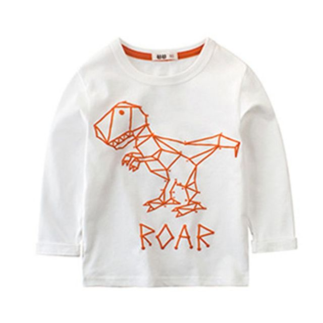 Boys T Shirt novatx children clothing long sleeves spring autumn bobo choses tops tees Dinosaurs kids clothes costumes SX351