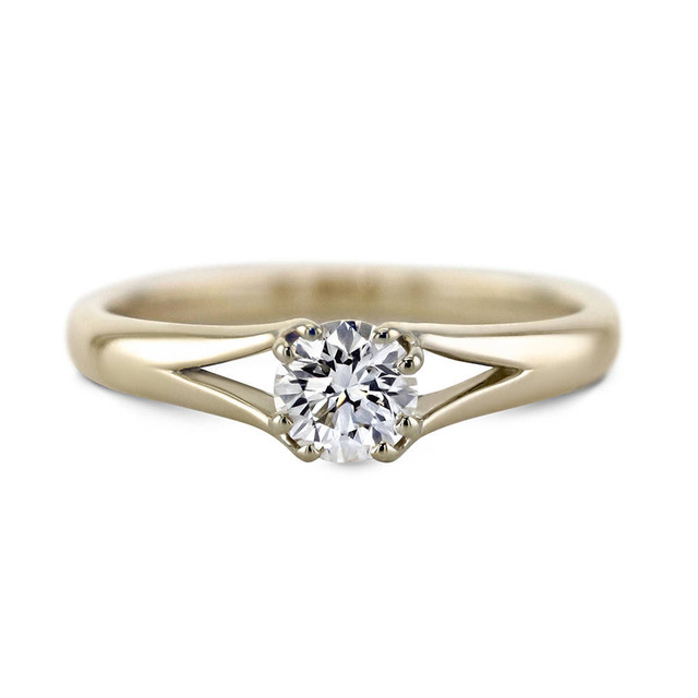 0.4ct 4.5mm Round Cut Moissanite Ring 14K Solid Yellow Gold,Moissanite Solarite Classic Engagement Ring,Fantacy Wedding Band