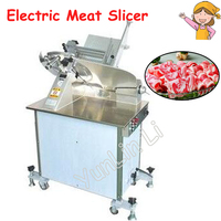 Commercial 14 Inch Automatic Electric Slicer 380V/230V/110V Cut Freezer Machine Slice of Meat Mutton Roll In Slicing Meat HB 350