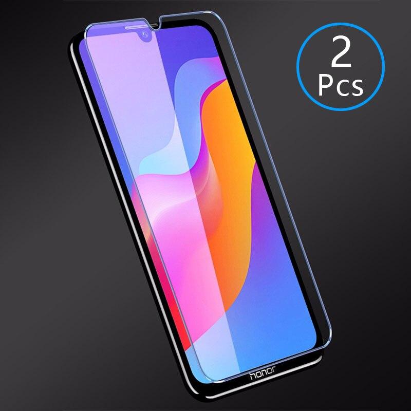 for huawei y5 y6 y7 pro prime 2019 case cover tempered glass protective phone on y 5 6 7 5y 6y 7y y52019 y62019 y72019 film(China)