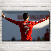 Cristiano Ronaldo Poster Football Madrid Wall World Cup Soccer Silk Art Posters 15x24 22x35 Inches Free