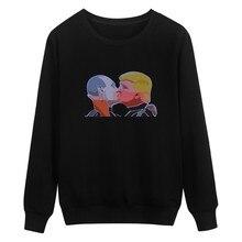 New Donald Trump President Sweatshirt Men and Cartoon Winter Autumn Warm Putin Mens Hoodies Donald Trump President 4xl XXS