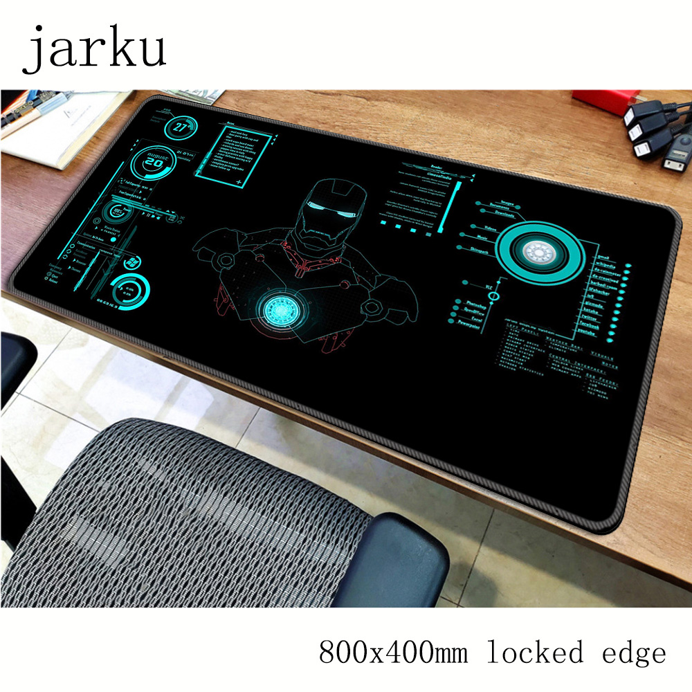 Homem de ferro mouse pad gamer 800x400x2mm tapete do mouse notbook nova chegada gaming mousepad grande almofada grossa mouse mesa padmouse